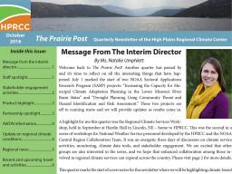 The quarterly Prairie Post now is available.