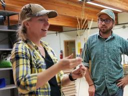 Vicki Simonsen teaches how to have fun identifying common Nebraska plants. | Nadejda (Nadya) Mirochnitchenko