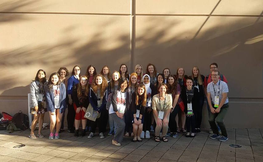 CSE students and faculty at this year's Grace Hopper Celebration of Women in Computing.