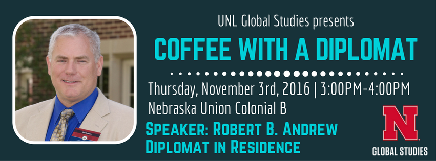 EVENT: Coffee with a Diplomat   November 3rd   3-4PM