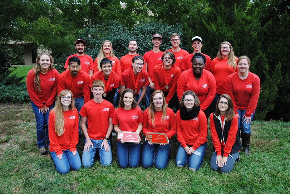 University of Nebraska-Lincoln soils team will compete at nationals in spring 2017 after earning third in regional competition.