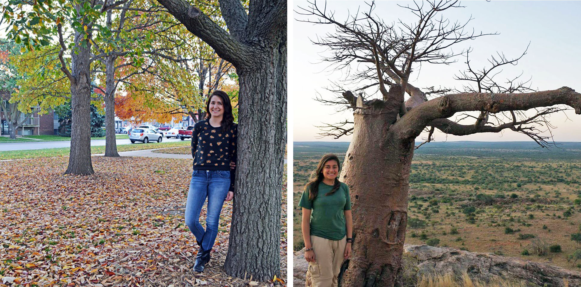 Jenna Schweiss, left, and Jazmin Castillo, both SNR students, will present during the first RED Talk on Thursday, Nov. 10 at Love Library North.