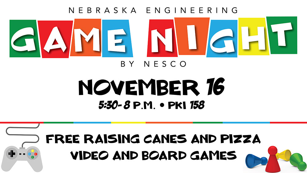 Free games food wednesday at game night announce university of