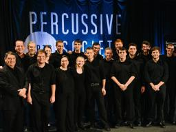 The University of Nebraska-Lincoln's Percussion Ensemble performed at PASIC Nov. 10 in Indianapolis, Indiana.