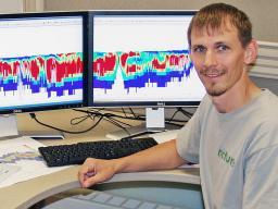 Jesse Korus, hydrologist with Conservation and Survey Division, Nebraska's Geological Survey.