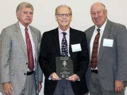 Don Wilhite accepts the 2016 Lincoln-Lancaster County Environmental Leadership Award. | Courtesy image