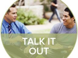 One method of managing stress is to talk it out with a mentor, counselor, friend or family member.