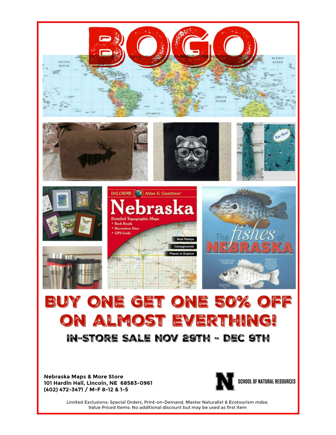 Maps & More is hosting a buy one, get one half off sale through Dec. 9. | Courtesy image
