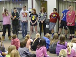 4-H Teen Council members organize and run the 4th & 5th Grade overnight Lock-In.