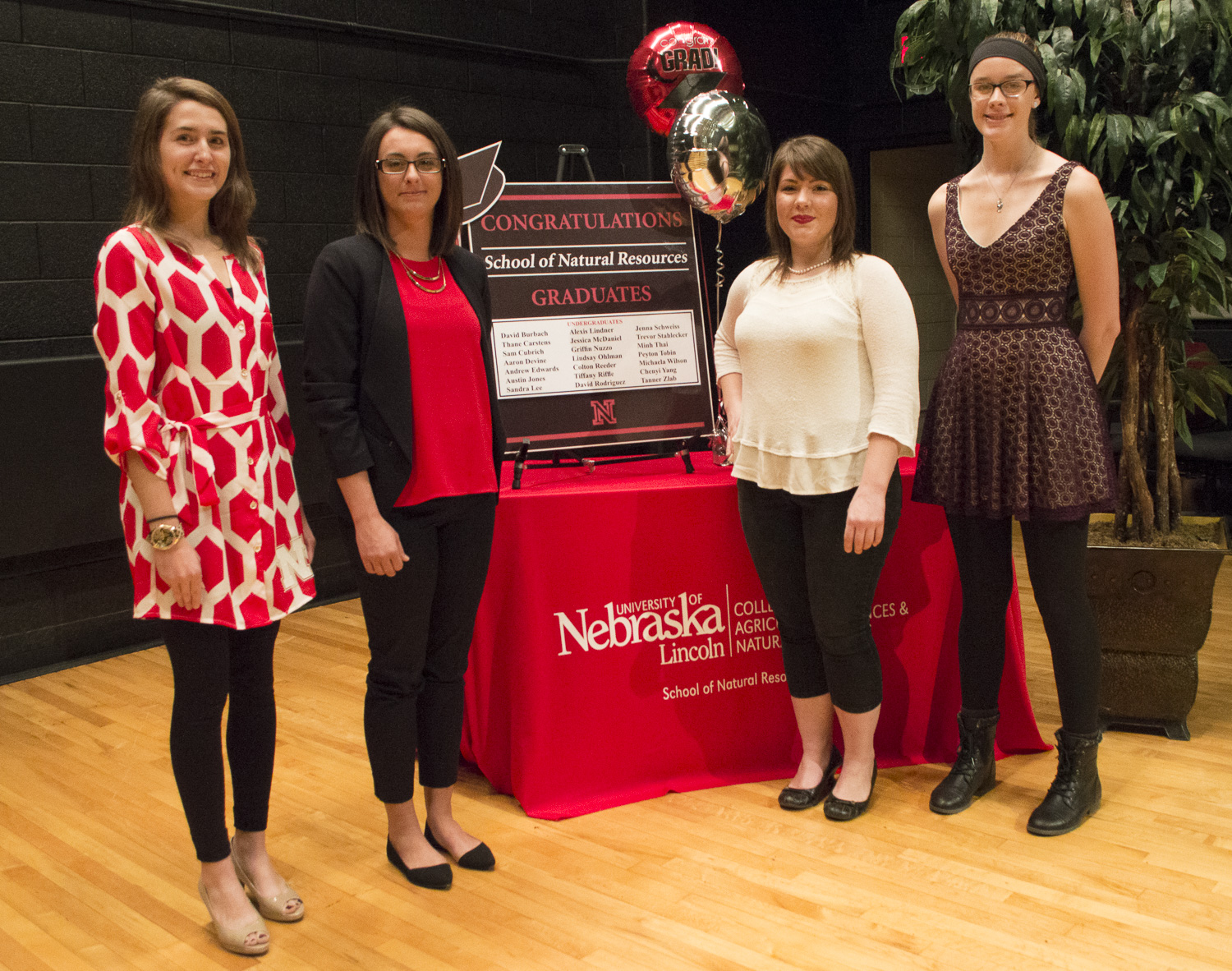 SNR December graduates participate in a Friday reception in their honor before University of Nebraska-Lincoln commencement ceremonies.   Shawna Richter-Ryerson, Natural Resources