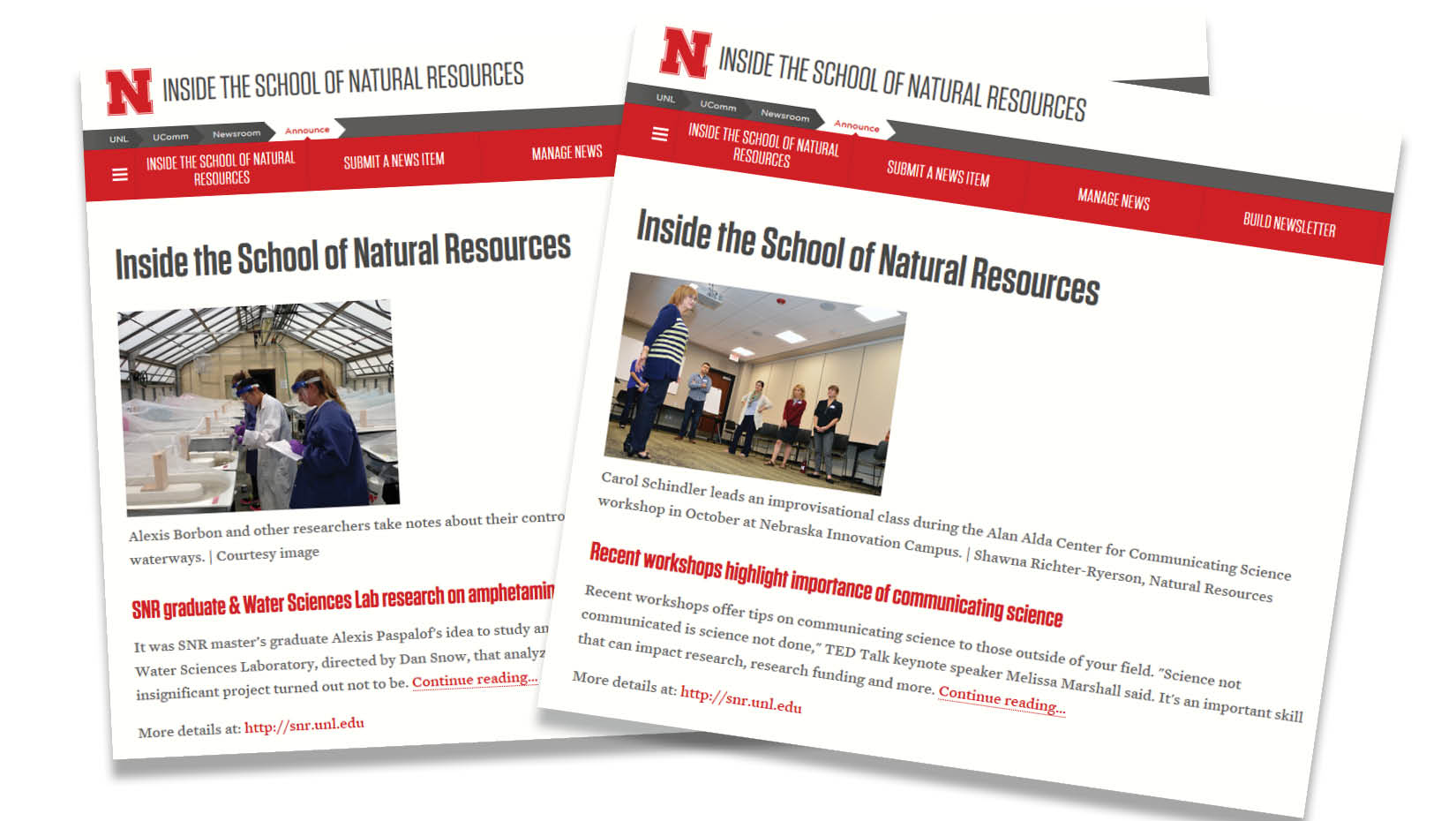 Inside SNR will resume publishing on Jan. 9, the start to the spring semester.