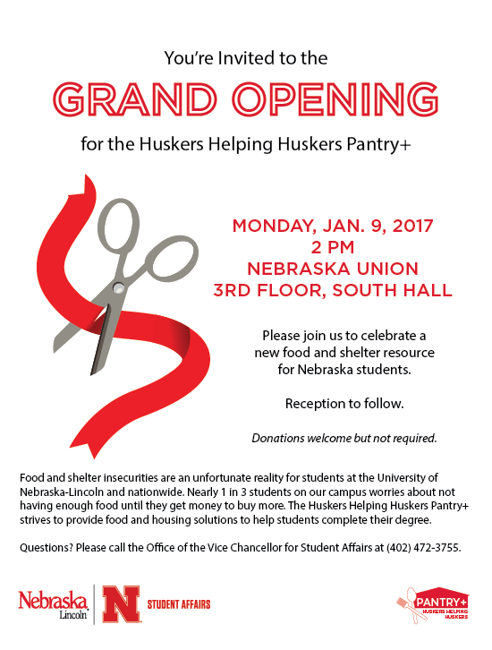 Attend the Grand Opening to learn how you can donate, volunteer or get assistance from the pantry.