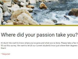SNR alumni survey