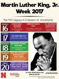 UNL Chancellor Presents MLK Week 2017