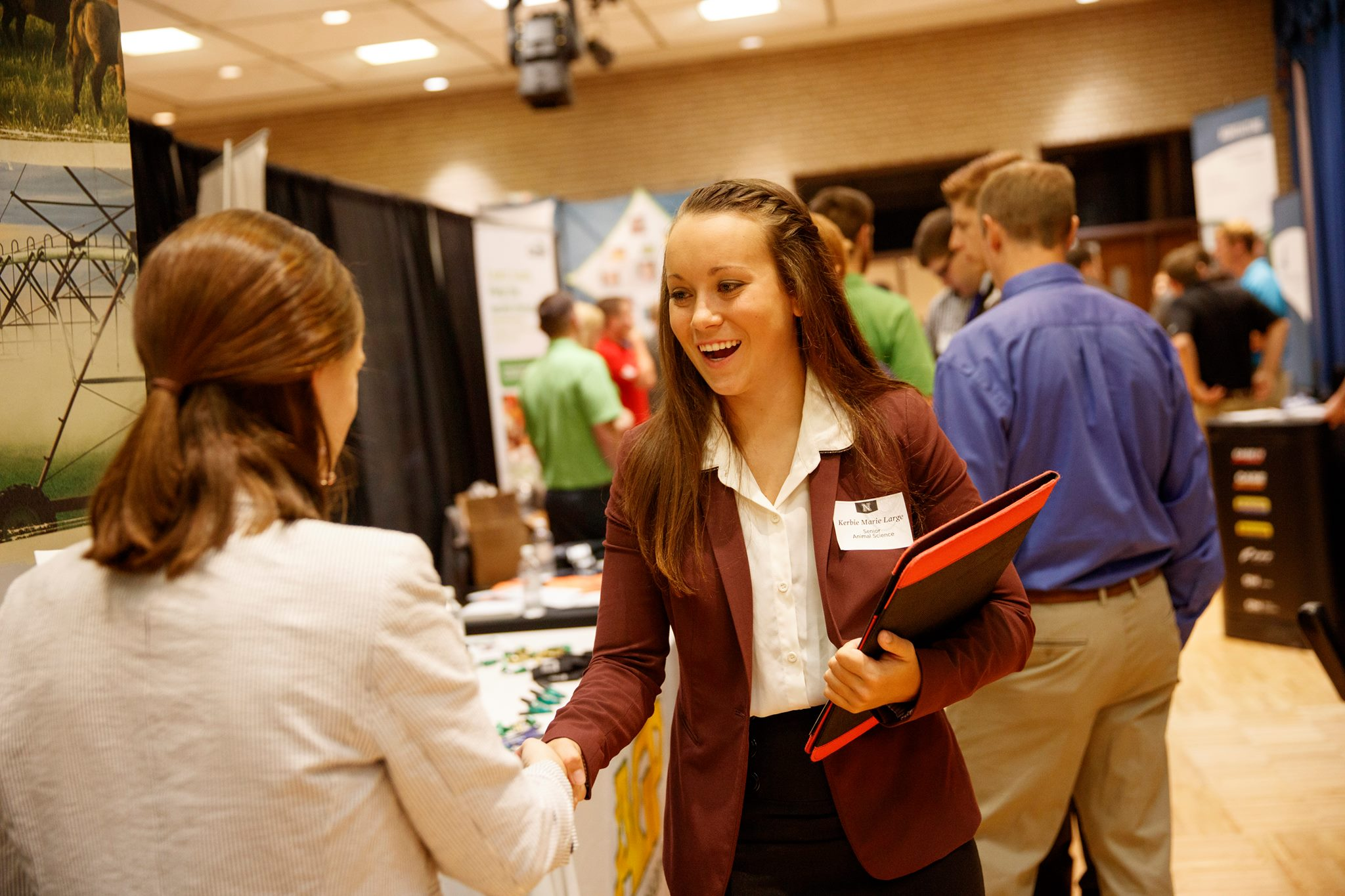 Network with employers at the Agricultural Sciences and Natural Resources fair.
