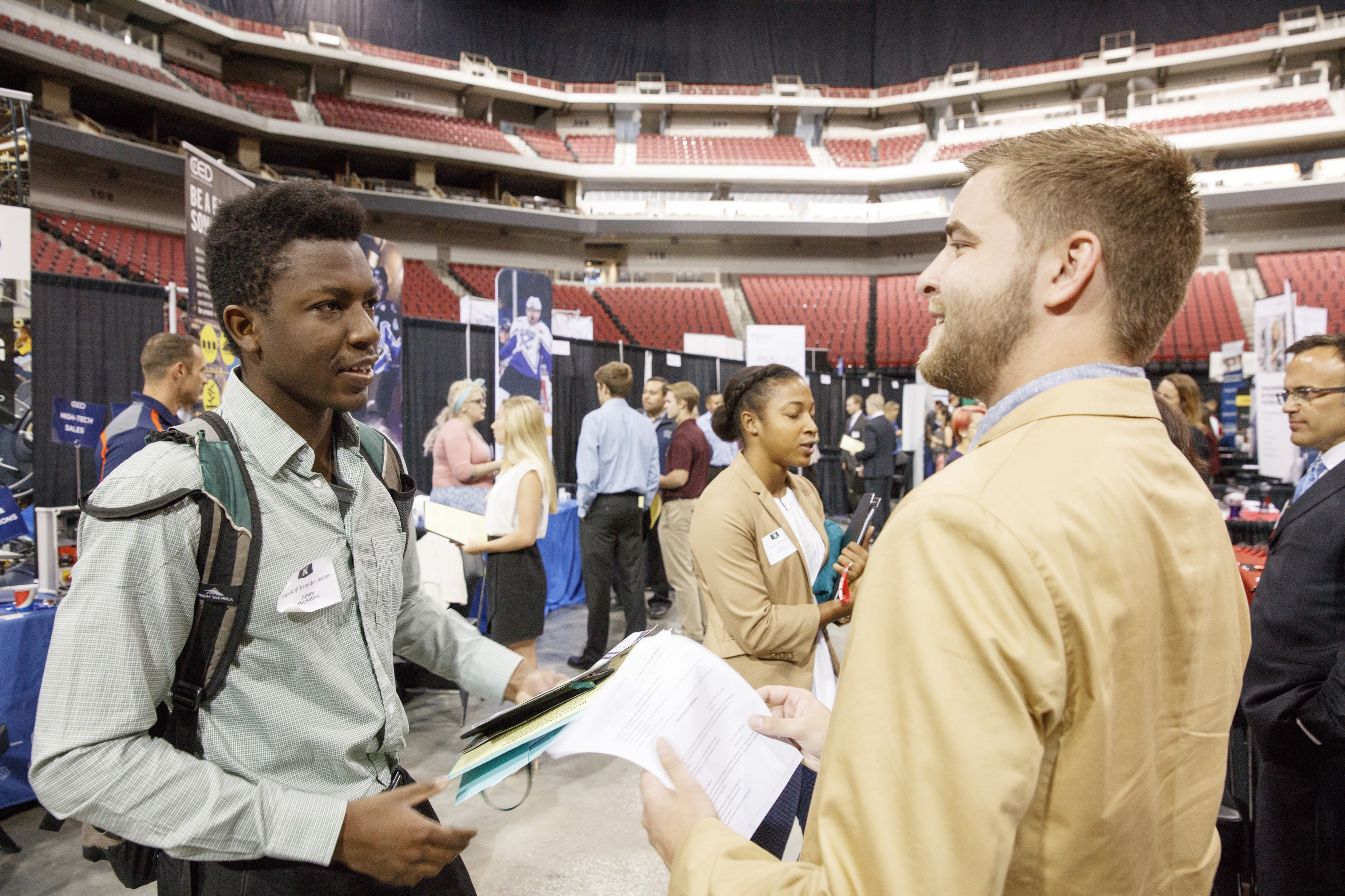 Network with employers at the Business & Liberal Arts fair.