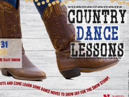 Country Dance Lessons Poster