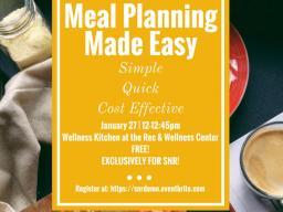 Register now for the wellness cooking demonstration set for Jan. 27. | Courtesy image