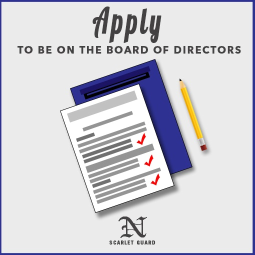Apply to be on the Board of Directors