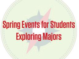 View the flier with spring events.