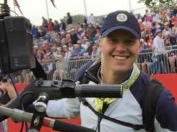 Nick Sage, Camera Crew for the 2016 Ryder Cup at Hazeltine.