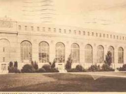 Vintage postcard of Memorial Stadium