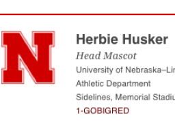 Create your own Nebraska-branded email signature.