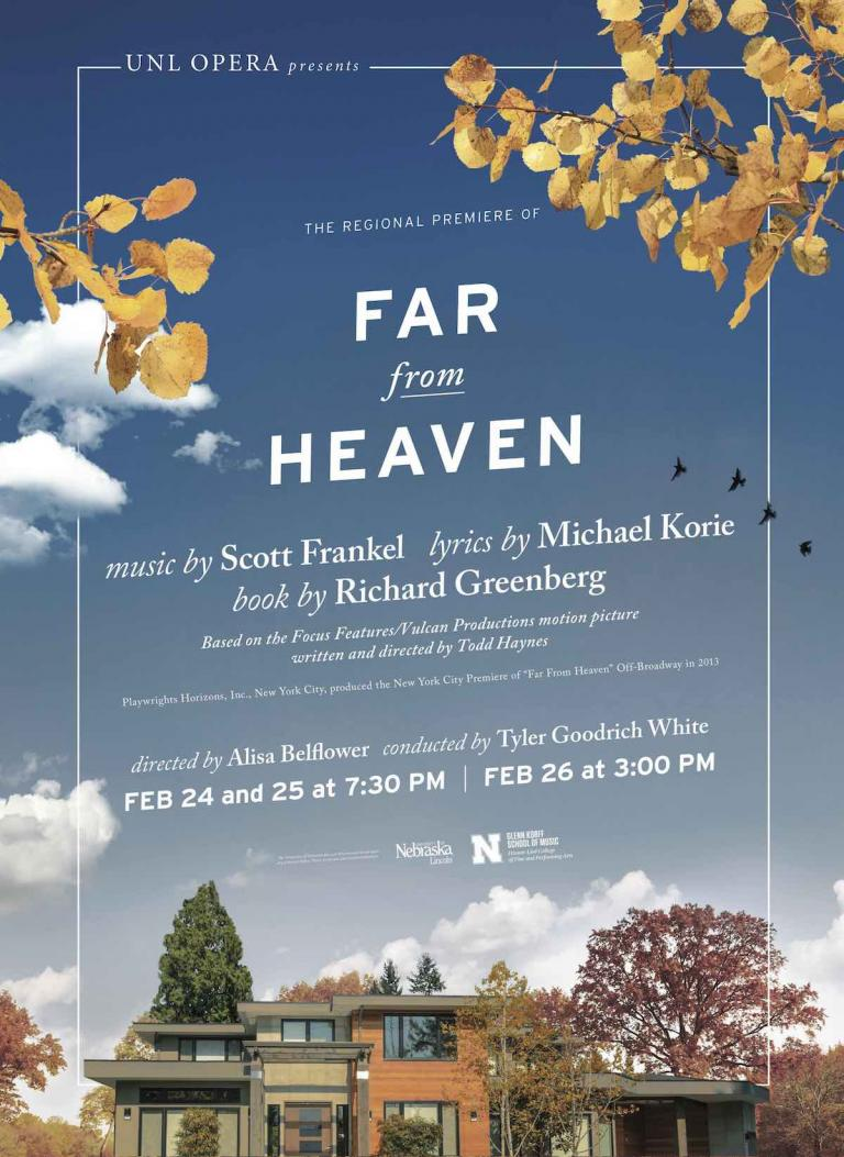 UNL Opera bringing Far From Heaven to Kimball Hall stage ...