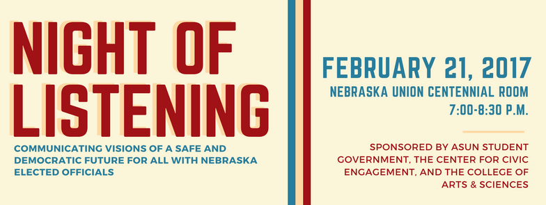 Night of Listening | Feb. 21, 2017 at 7 p.m.