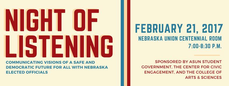 Night of Listening | Feb. 21, 2017 at 7 p.m.