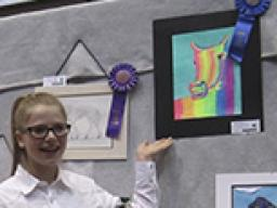 Several Lancaster County 4-H youth participated in the 2016 Horse Stampede, including the art contest.