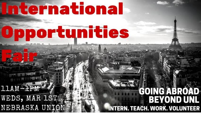 International Opportunities Fair is March 1