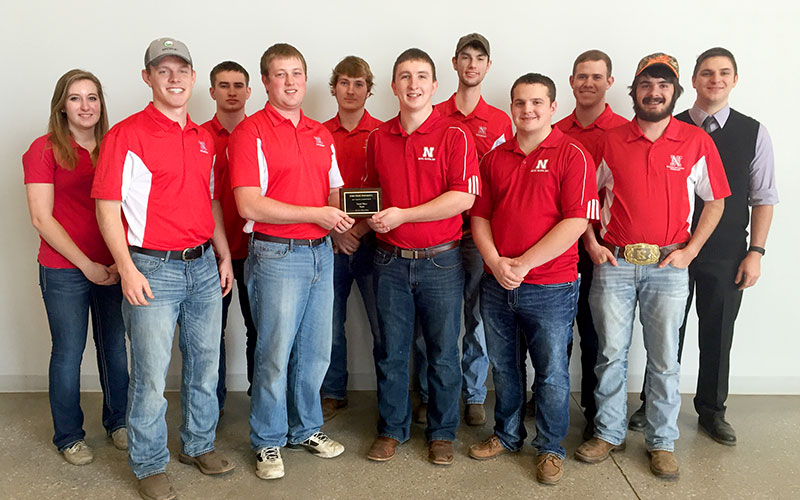 The University of Nebraska–Lincoln Crops Team earns third-place at the Iowa State University Crops Contest Feb. 11.