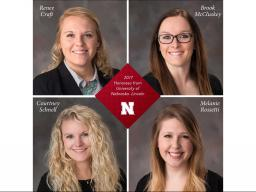 The addition of these four award winners helps Nebraska continue to lead nationally with the most Wasson Award honorees.
