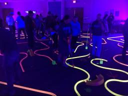 Glow golf was a popular draw for student to participate in Union Take Over.
