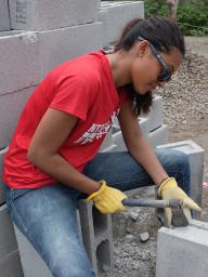 A Nebraska student helps build hurricane-resistant houses in Guatemala.