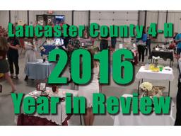 The lancaster County 4-H 2016 Year in Review is now on YouTube.