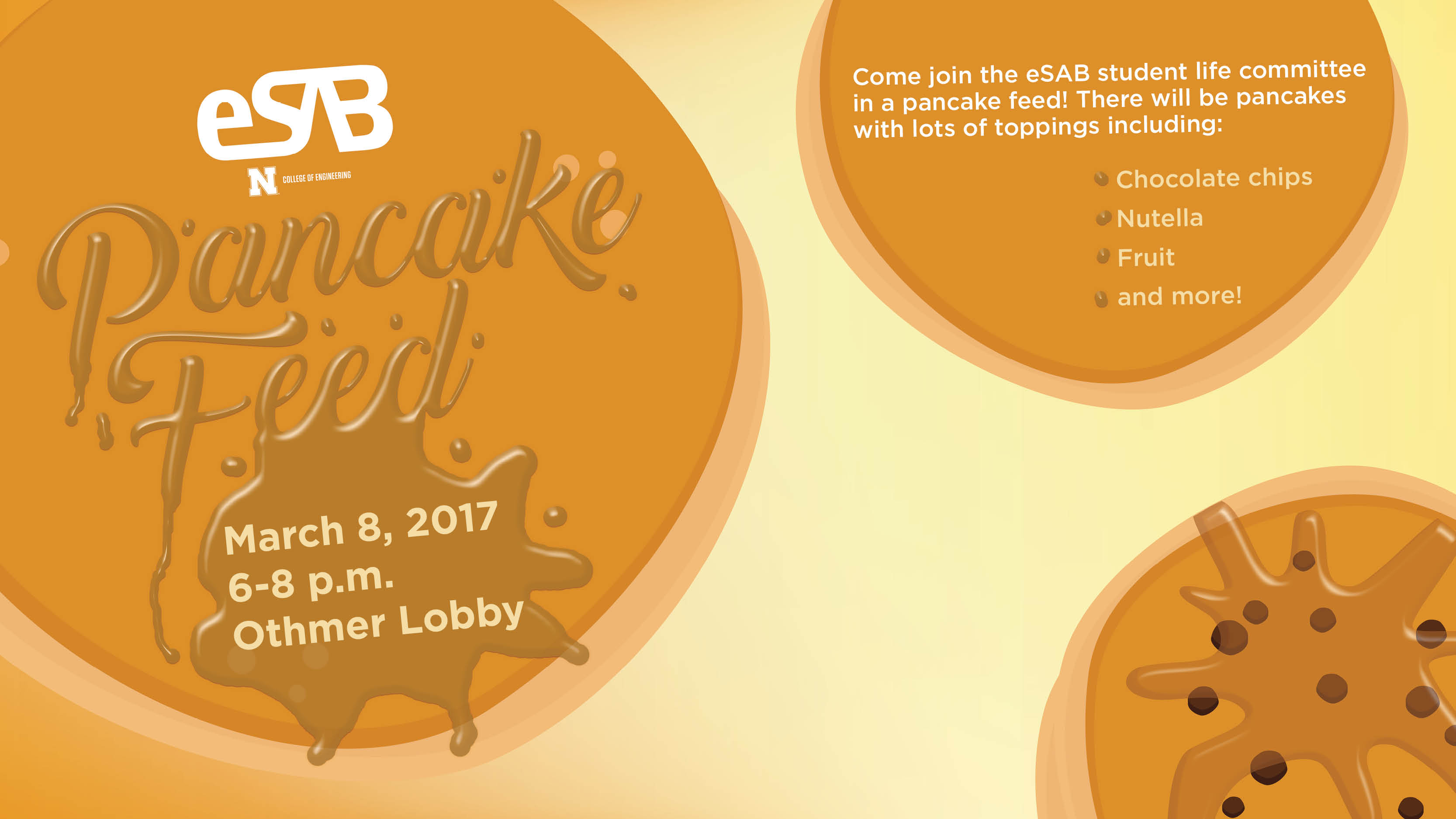 Pancake feed Wednesday night in Othmer Hall