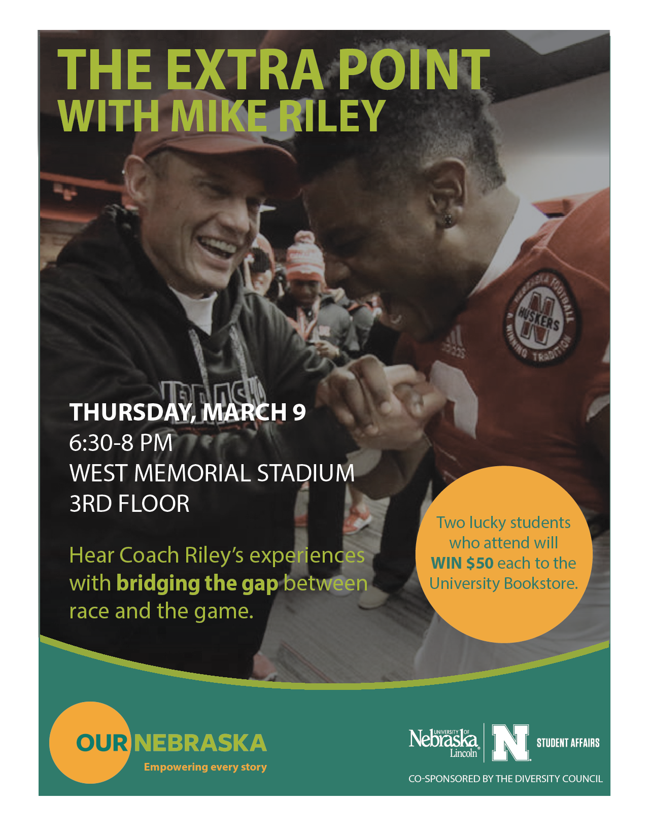 Coach Mike Riley event flier