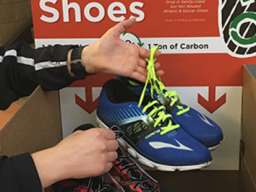 Shoes can be donated thru April 28 at the Rec and Wellness Center, Outdoor Adventures Center and Campus Rec Center. | Courtesy image