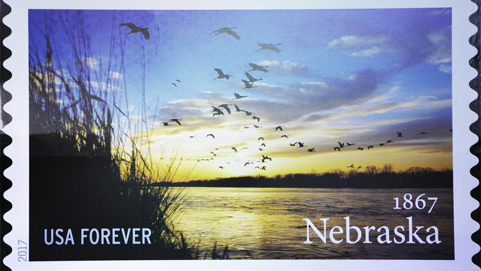 The new Nebraska Statehood Forever Stamp features a photo by the university's Michael Forsberg. | Jenny Gravely, Agricultural Leadership, Education and Communication