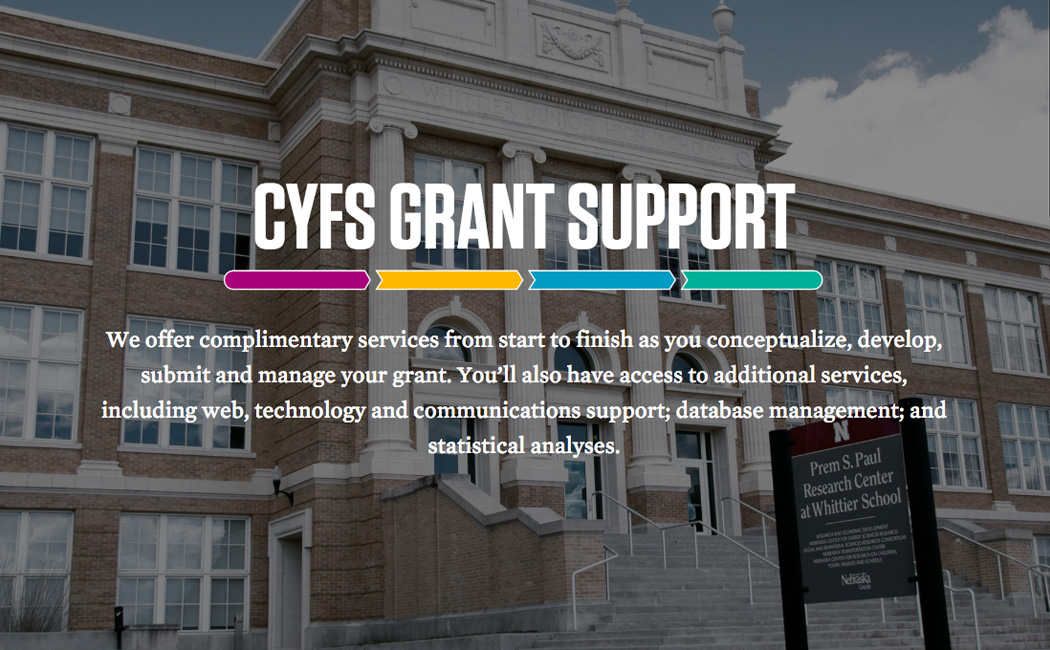 CYFS grant support website: cyfsgrant.unl.edu