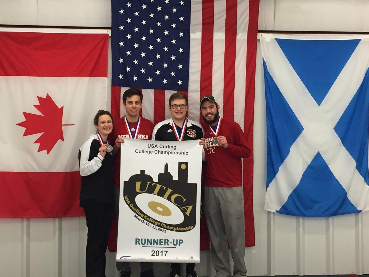 The Nebraska Curling Team, courtesy of @UNLCurling on Twitter