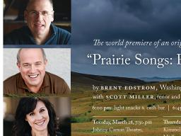 """""""Prairie Songs:  Remembering Ántonia"""" will premier March 28 at the Lied Center's Johnny Carson Theater."""