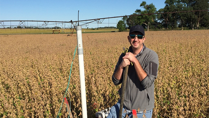 Justin Gibson, doctoral student in the University of Nebraska–Lincoln's School of Natural Resources and a Robert B. Daugherty Water for Food Global Institute student support grantee. | Courtesy image