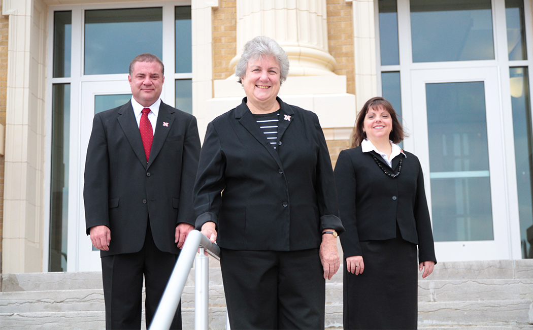 From left: Jim Houston, Gwen Nugent and Gina Kunz. The team is studying the most effective strategies for teacher coaching, a method of professional development that provides feedback from trained educators.