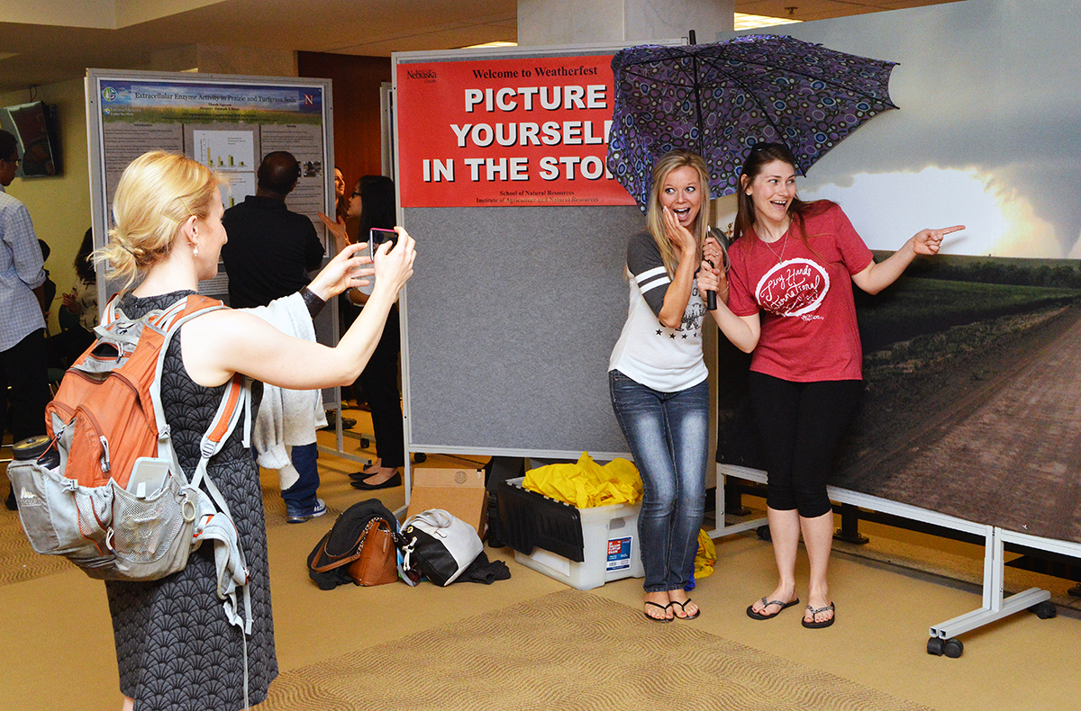Students participate in the 16th annual Weatherfest and Central Plains Severe Weather Symposium on Saturday, April 16, 2016. This year's annual event is April 1 at Nebraska Innovation Campus. | Shawna Richter-Ryerson, Natural Resources