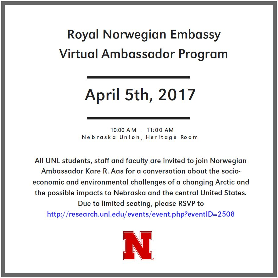 EVENT: Royal Norwegian Embassy Virtual Ambassador Program & Discussion
