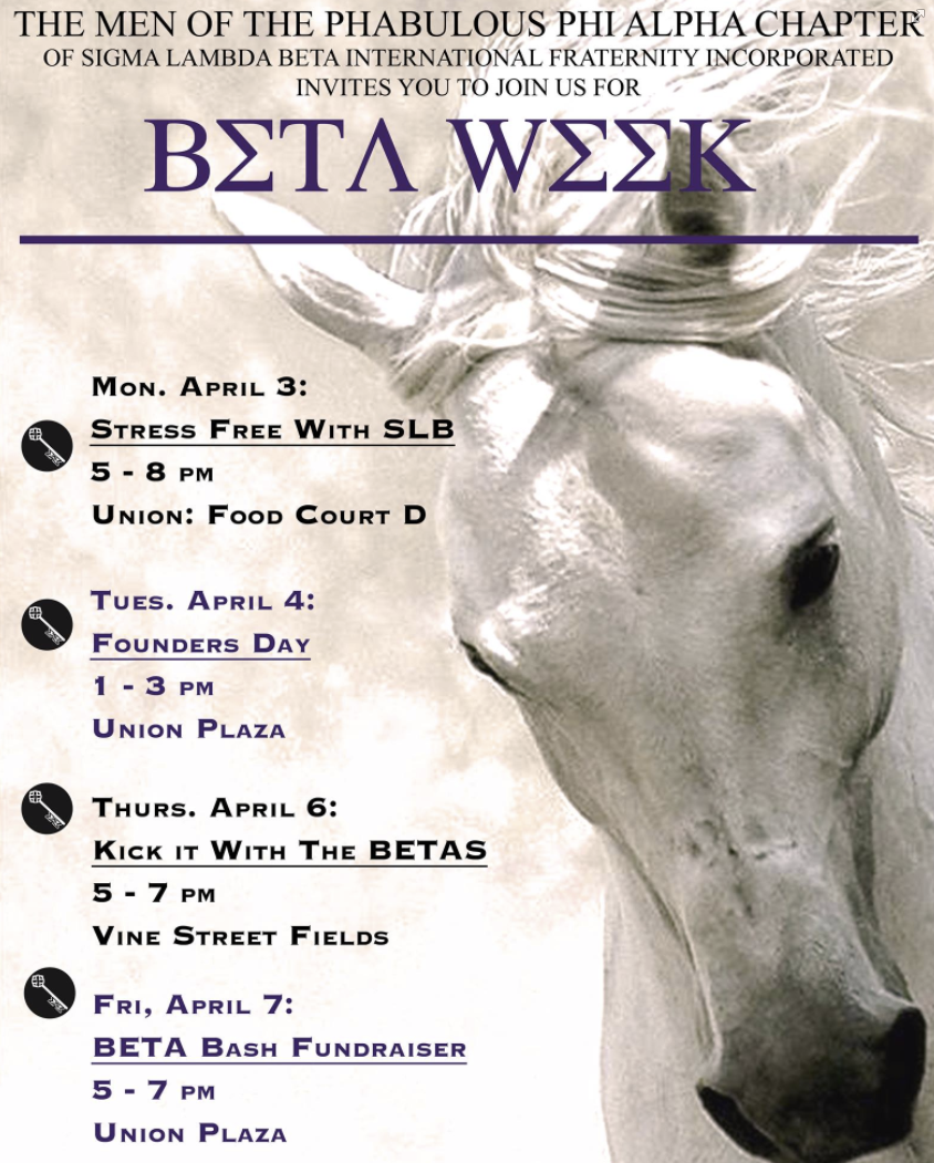 Beta Week Schedule