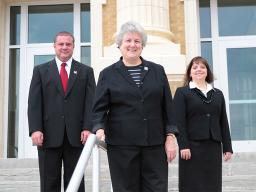 A research team at Nebraska including (from left) Jim Houston, Gwen Nugent and Gina Kunz is studying the use of coaching techniques to enhance classroom instruction. (Courtesy photo)